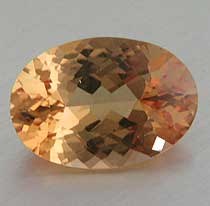 Imperial topaz oval